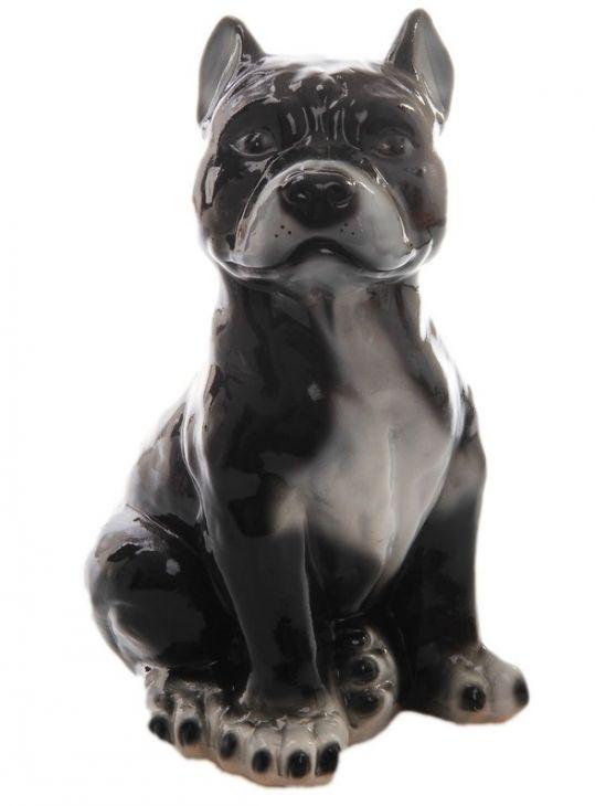 Копилка Собака Питбуль, 32 см