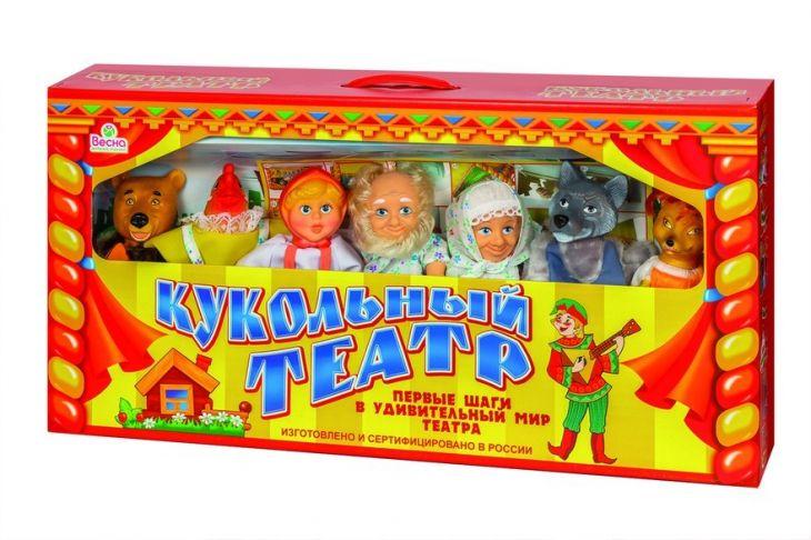 Кукольный театр Весна  7 персонажей набор № 1