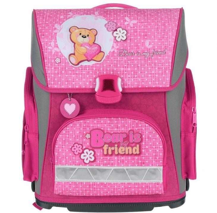 Ранец для девочки Хатбер Optimum Friendly bear