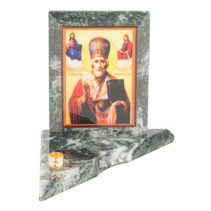 Икона с подсвечником Николай Чудотворец малая